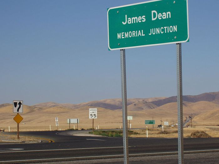 The site where James Dean crashed: the junction of highways 46 (former 466) and 41