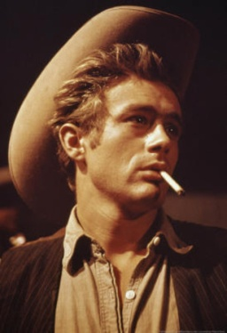 """James Dean in a publicity still from the 1956 movie """"Giant"""" Warner Brothers"""