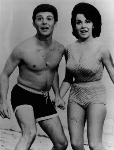 "Frankie Avalon and Annette Funicello during the ""Beach Party"" era in the 1960s AP Photo"
