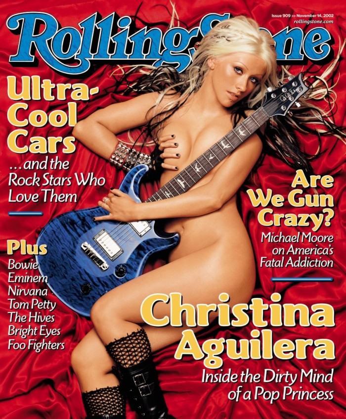 "Christina Aguilera's 2002 Rolling Stone Cover promoting her new image and album ""Stripped"" Rolling Stone"