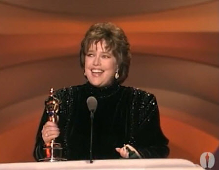 Kathy Bates wins the best actress Oscar in 1990 for