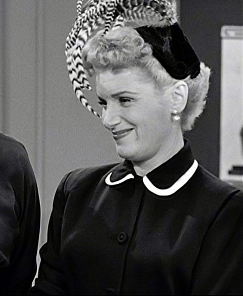 "Shirley Mitchell as ""Marion Strong"" on ""I Love Lucy""  Paramount Pictures"