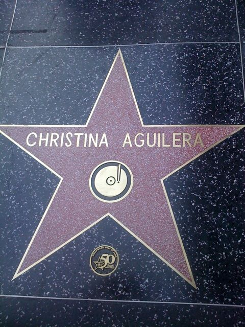 Christina Aguilera's star on the Hollywood Walk of Fame Bioniccente