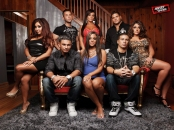 "Cast of ""Jersey Shore"" Top Row: Snooki, Mike ""The Situation,"" JWoww, Ronnie, Deena Bottom Row: Pauly D, Sammi ""Sweetheart,"" Vinnie"