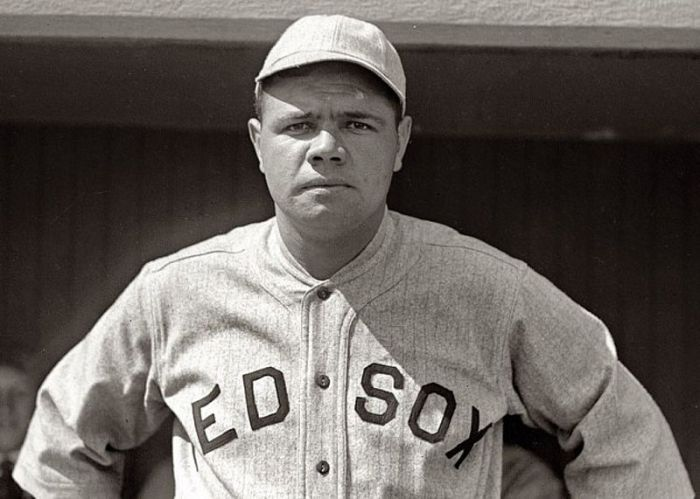 Babe Ruth in 1918 during his time with the Boston Red Sox Library of Congress/AP