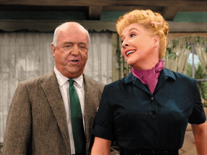 "Vivian Vance and William Frawley as ""Ethel and Fred Mertz"" CBS Television / Desilu Productions"