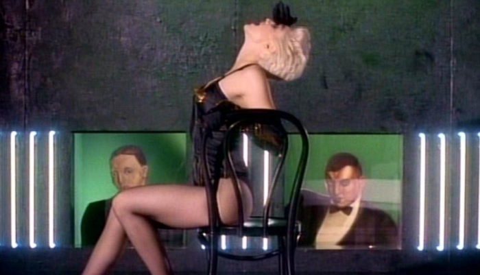 Screen grab of Madonna in the video for