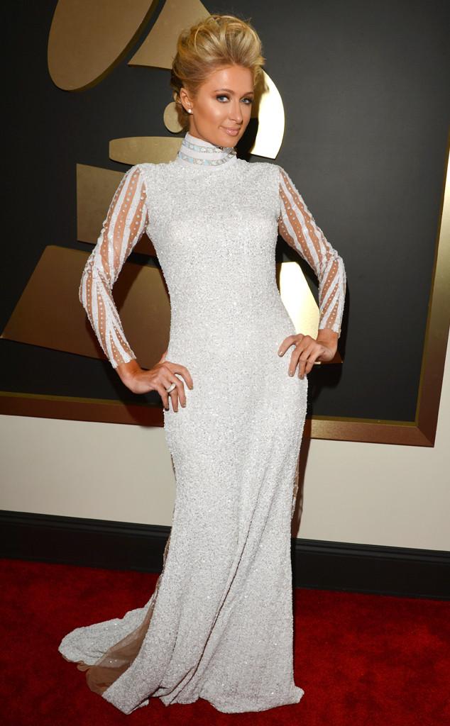 Paris Hilton at the 2014 Grammys Lester Cohen/WireImage