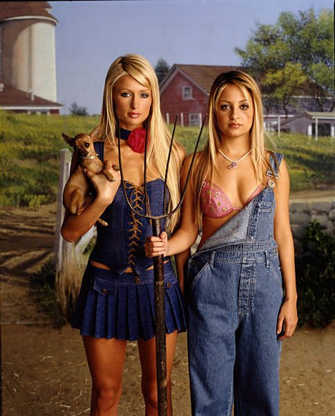 "Promotional Shot of ""The Simple Life"" with Paris Hilton and Nicole Richie Twentieth Century Fox TV"