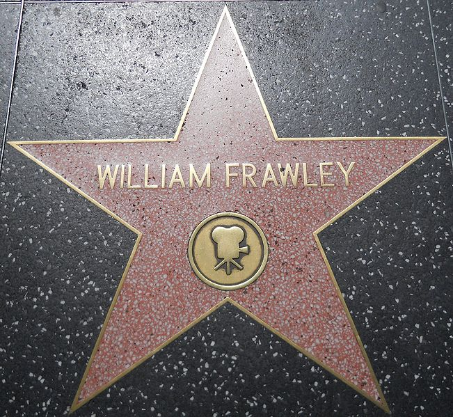 William Frawley's star on the Hollywood Walk of Fame via Wikipedia user  JGKlein