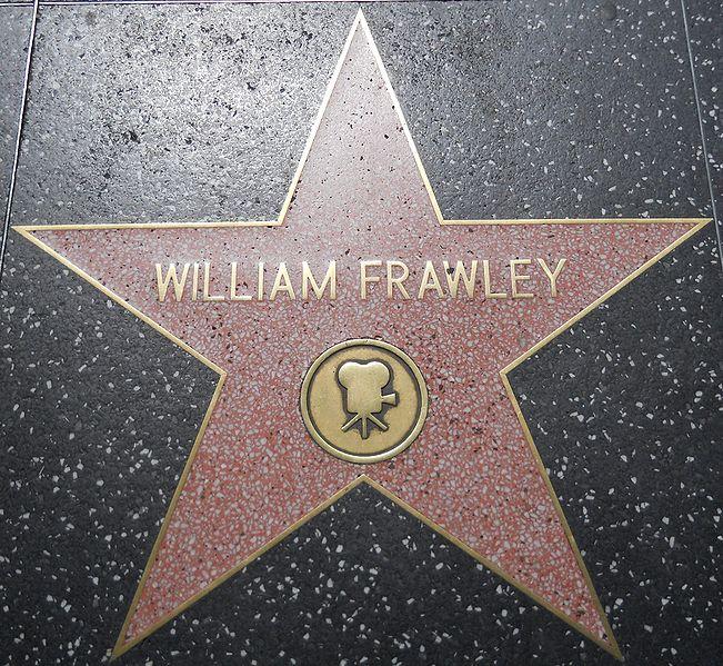 William Frawley's star on the Hollywood Walk of Fame via Wikipedia user  JGKlein