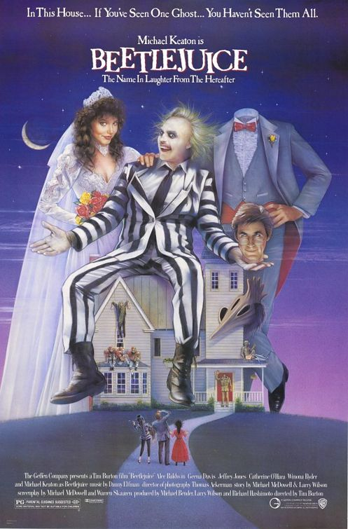 "Theatrical poster for ""Beetlejuice"" Warner Brothers"