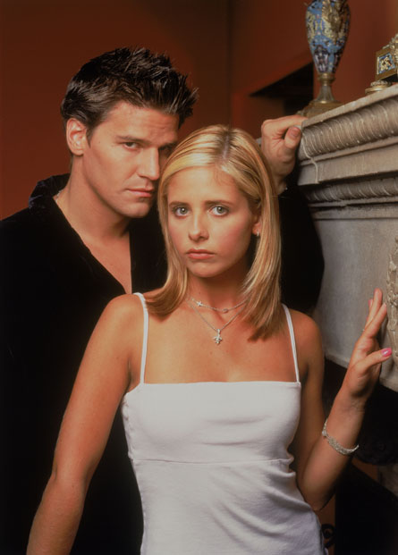 Promotional shot of David Boreanaz and Sarah Michelle Gellar as Angel and Buffy 20th Century Fox Television