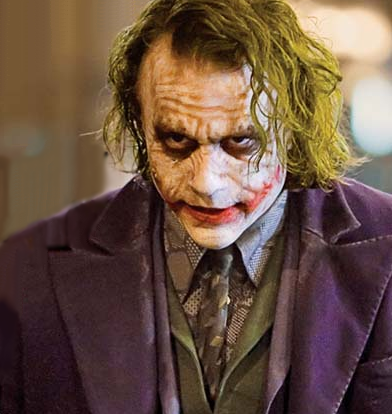 Heath Ledger as The Joker in 2008's