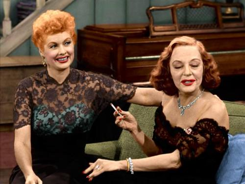"Tallulah Bankhead appearing alongside Lucille Ball in ""The Lucy-Desi Comedy Hour"" CBS Television / Desilu Productions"