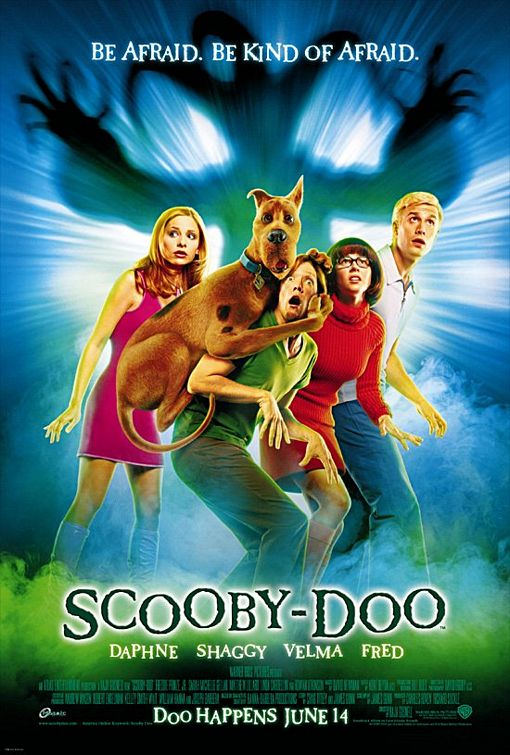 "Theatrical poster for 2002's ""Scooby Doo"" Warner Brothers Pictures"