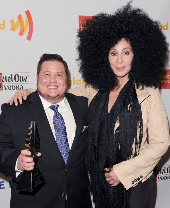 Chaz Bono and Cher Getty Images