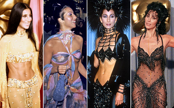Some of Cher's dresses have become legendary in their own right L-R: Getty Images; WireImage; Getty Images; AP