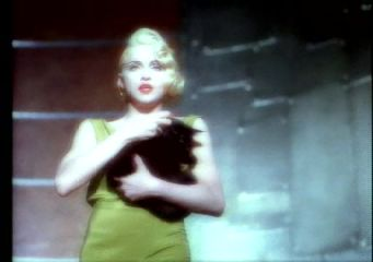 Madonna in her video for
