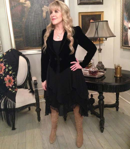 Stevie Nicks on set on