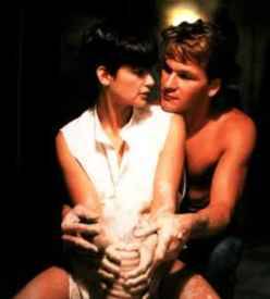 Demi Moore and Patrick Swayze in