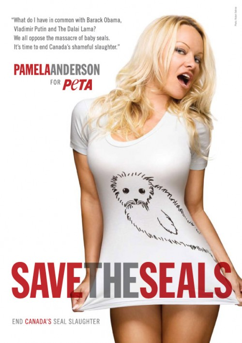 Pamela Anderson PETA's campaign spreading awareness for the ban against fur PETA