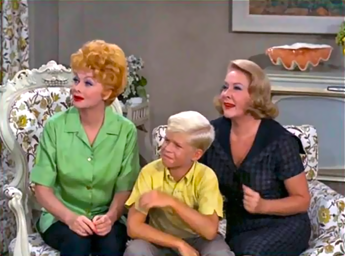 Vivian Vane alongside Lucille Ball on