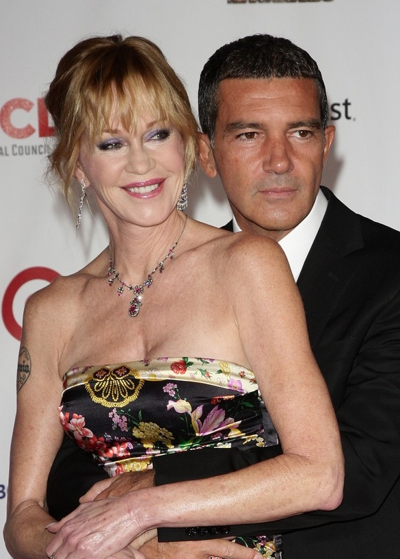 Melanie Griffith alongside Antonio Banderas INFevents.com