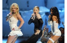 Britney Spears, Madonna, and Christina Aguilera at the 2003 MTV Video Music Awards Getty Images
