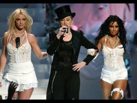 Britney Spears, Madonna, and Christina Aguilera during the 2003 MTV Video Music Awards MTV / YouTube