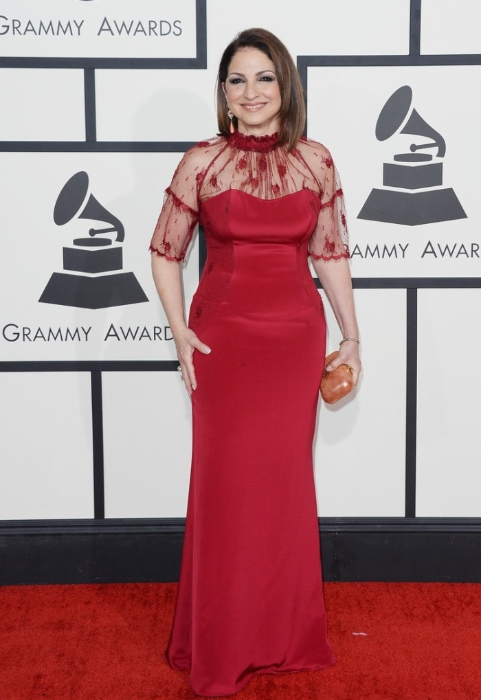 Gloria Estefan at the 2014 Grammy Awards Getty Images