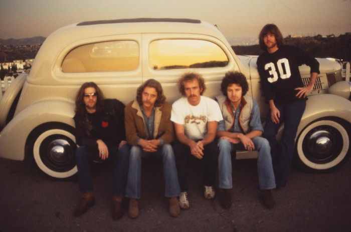 The Eagles (L:R): Glen Frey, Don Felder, Bernie Leadon, Don Henley, Randy Meisner www.eaglesband.com
