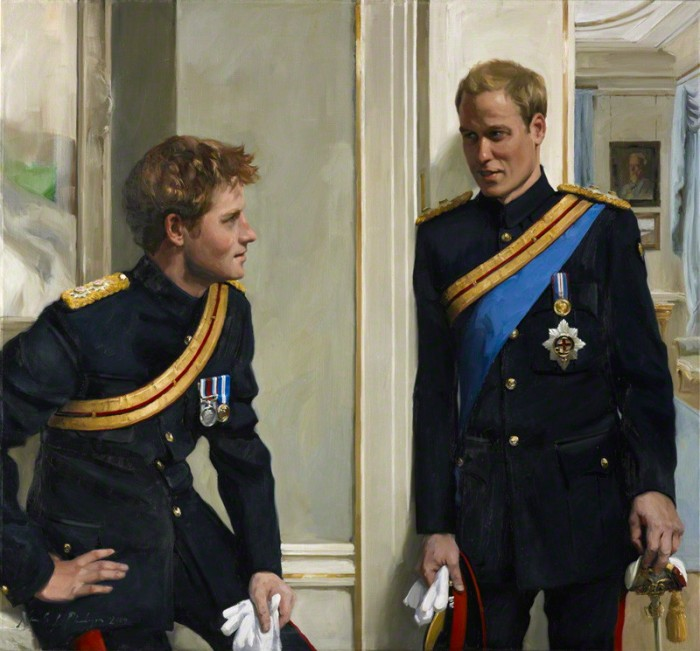 Prince Harry and Prince William - Official Royal Portrait   National Portrait Gallery, London (with contractual restrictions) / Nicola Jane ('Nicky') Philipps