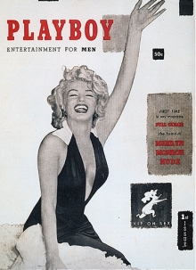 """Marilyn Monroe on the cover of the first edition of """"Playboy"""" Playboy"""