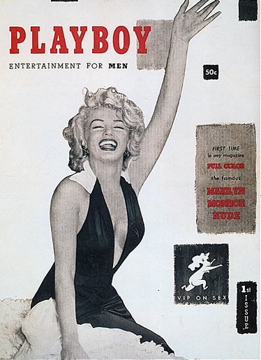Marilyn Monroe on the cover of the first edition of