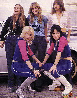 The Runaways: (Left to Right) Lita Ford, Sandy West, Jackie Fox, Joan Jett, and Cherie Currie Mercury Records