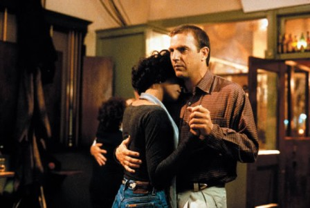 "Whitney Houston and Kevin Costner in ""The Bodyguard"" Warner Brothers Pictures"