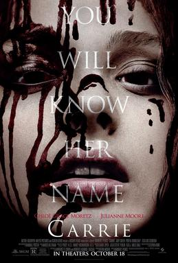 """2013 theatrical poster for """"Carrie"""" Sony Pictures"""