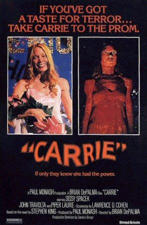 """1976 theatrical poster for """"Carrie"""" United Artists"""
