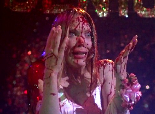 """Sissy Spacey as Carrie White during the infamous prom scene in """"Carrie"""" United Artists"""
