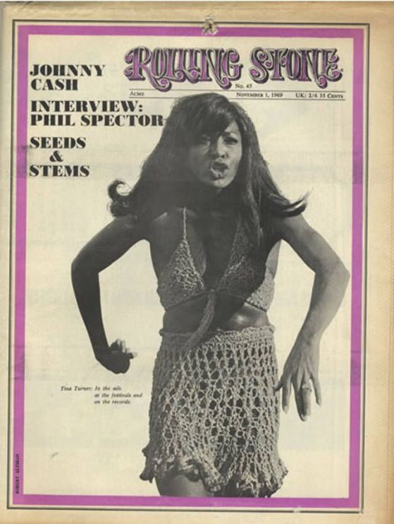 Tina Turner's first cover on Rolling Stone Rolling Stone