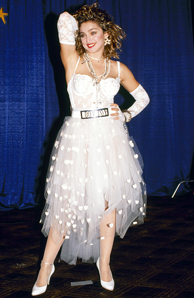 Madonna at the 1984 MTV Video Music Awards Getty Images