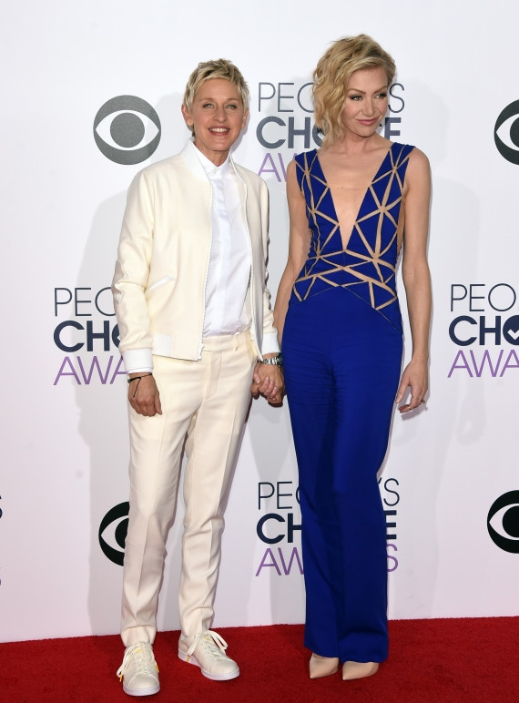 Ellen DeGeneres and Portia de Rossi  Getty Images