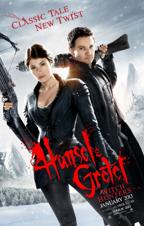 "Theatrical poster for 2013's ""Hansel & Gretel: Witch Hunters"" Paramount Pictures / Metro-Goldwyn-Mayer"