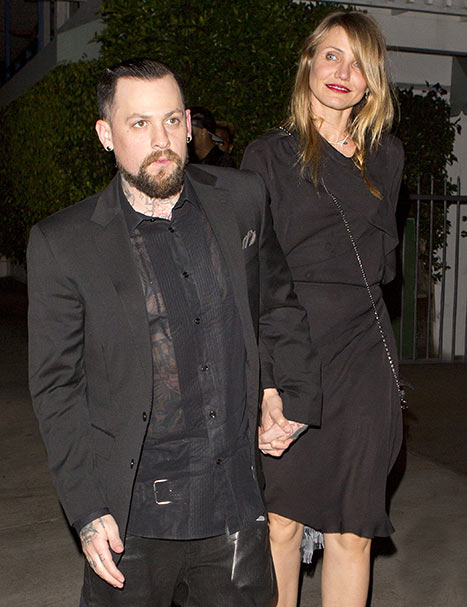 Benji Madden and Cameron Diaz SPW/Splash News