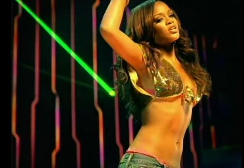 Rihanna in the music video for