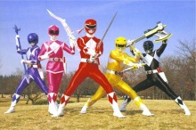 The Power Rangers with their weapons  Saban Entertainment