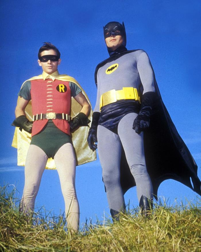 Burt Ward (Robin) and Adam West (Batman) ABC / Photofest