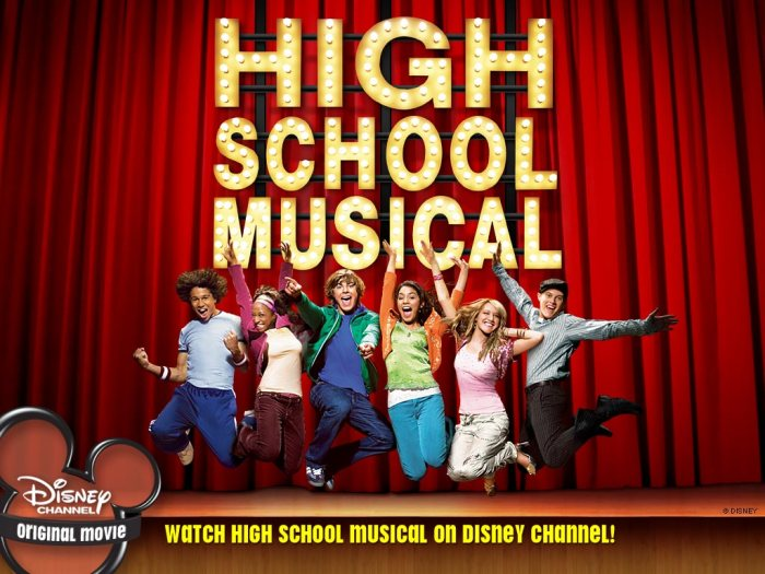 "Promotional poster for ""High School Musical"" Disney"