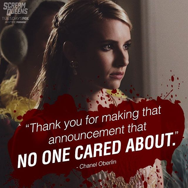 "Pop culture meme surrounding Chanel Oberlin in ""Scream Queens"" https://www.instagram.com/screamqueensfox/"